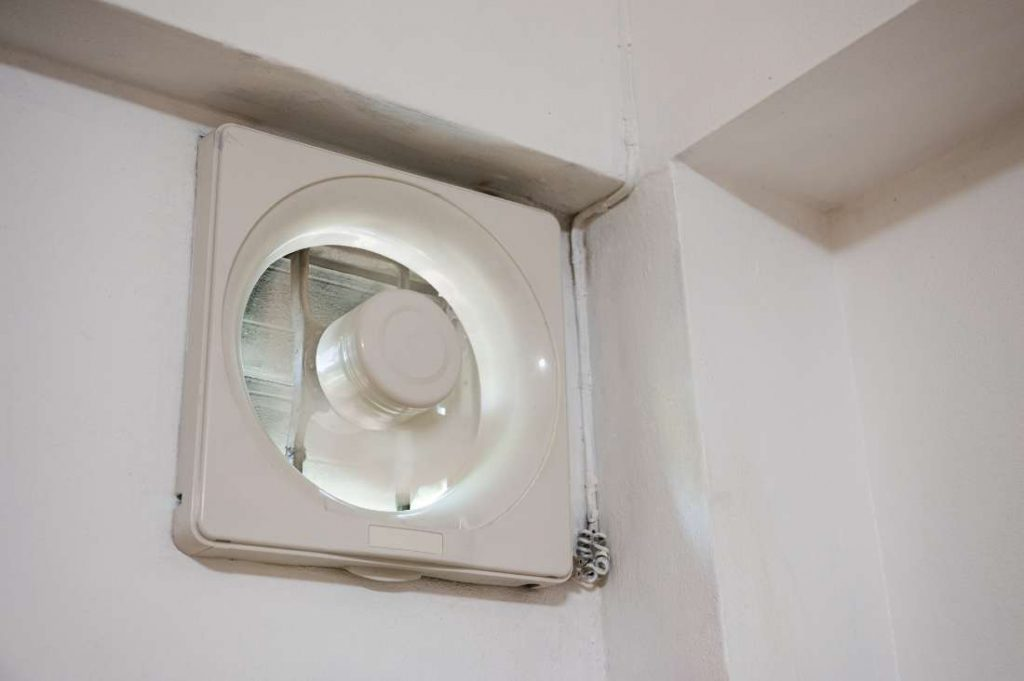 traditional ventilation fan for a bathroom